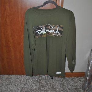 Empire long sleeve shirt - large - olive green